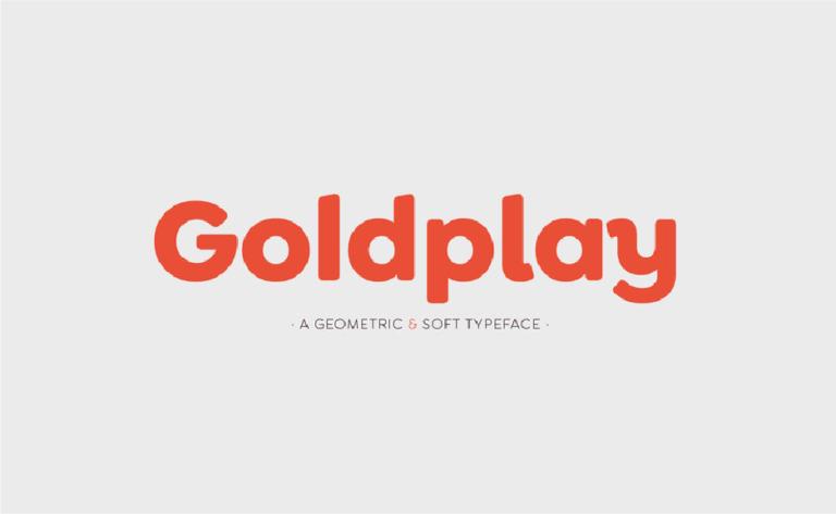 Goldplay - fuente tipografica - geometrica - moderna - gratis - descargar