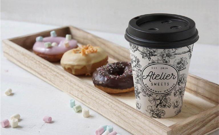 Gratis plantillas en PSD para mostrar branding - diseño - marcas - cafe