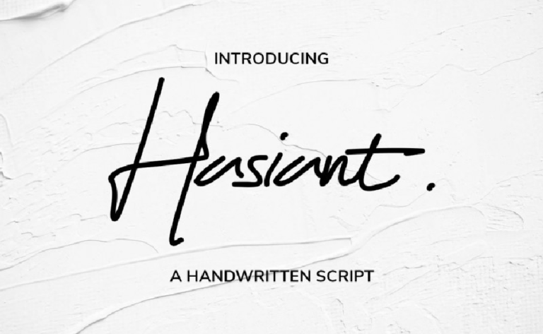 Hasiant - fuente handwritten - tipografia manuscrita - elegante - moderna - tipo firma - para uso libre-12