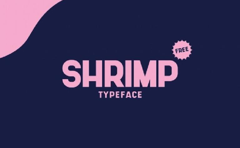 Shrimp - tipografia - alta - moderna - para diseños - carteles - titulares - uso gratuito