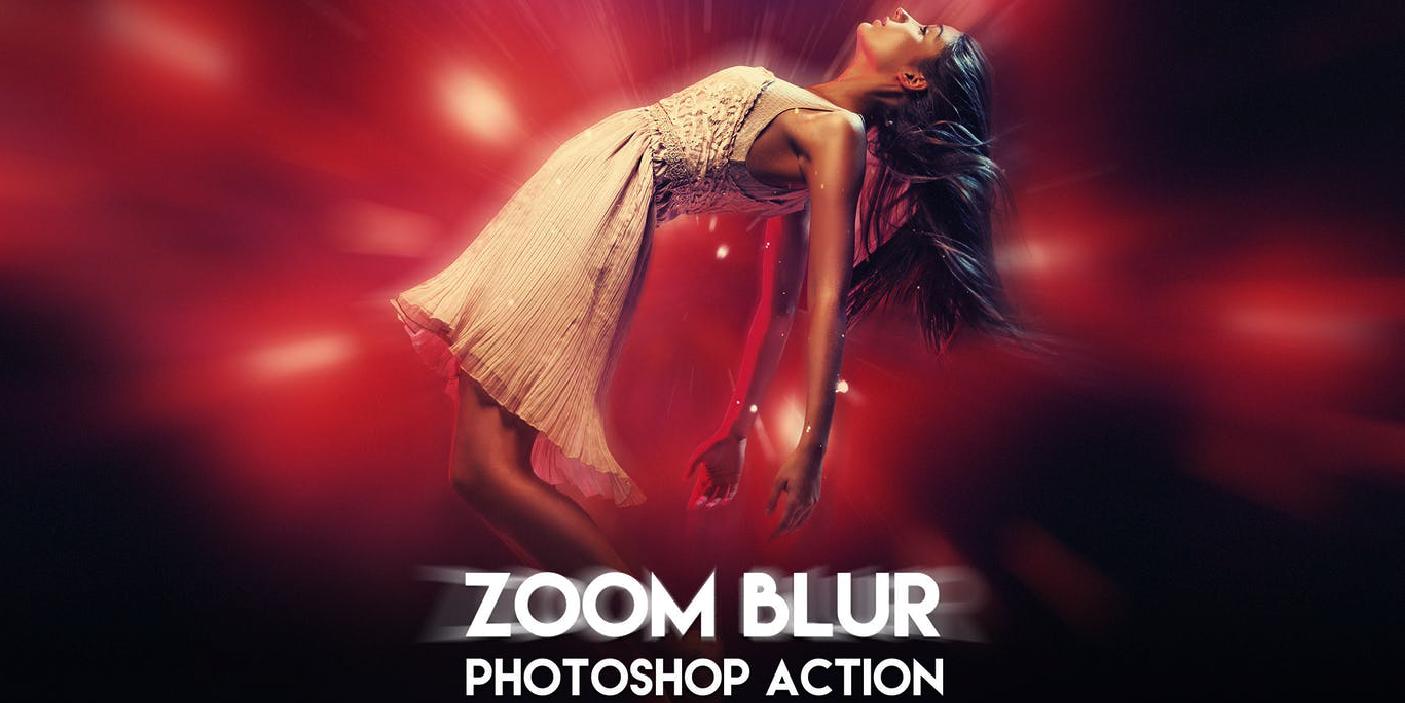 Zoom Blur - Efecto zoom desenfocado - Set - Photoshop Actions - Acciones para Psp 2020 - Gratis - Descargar recurso