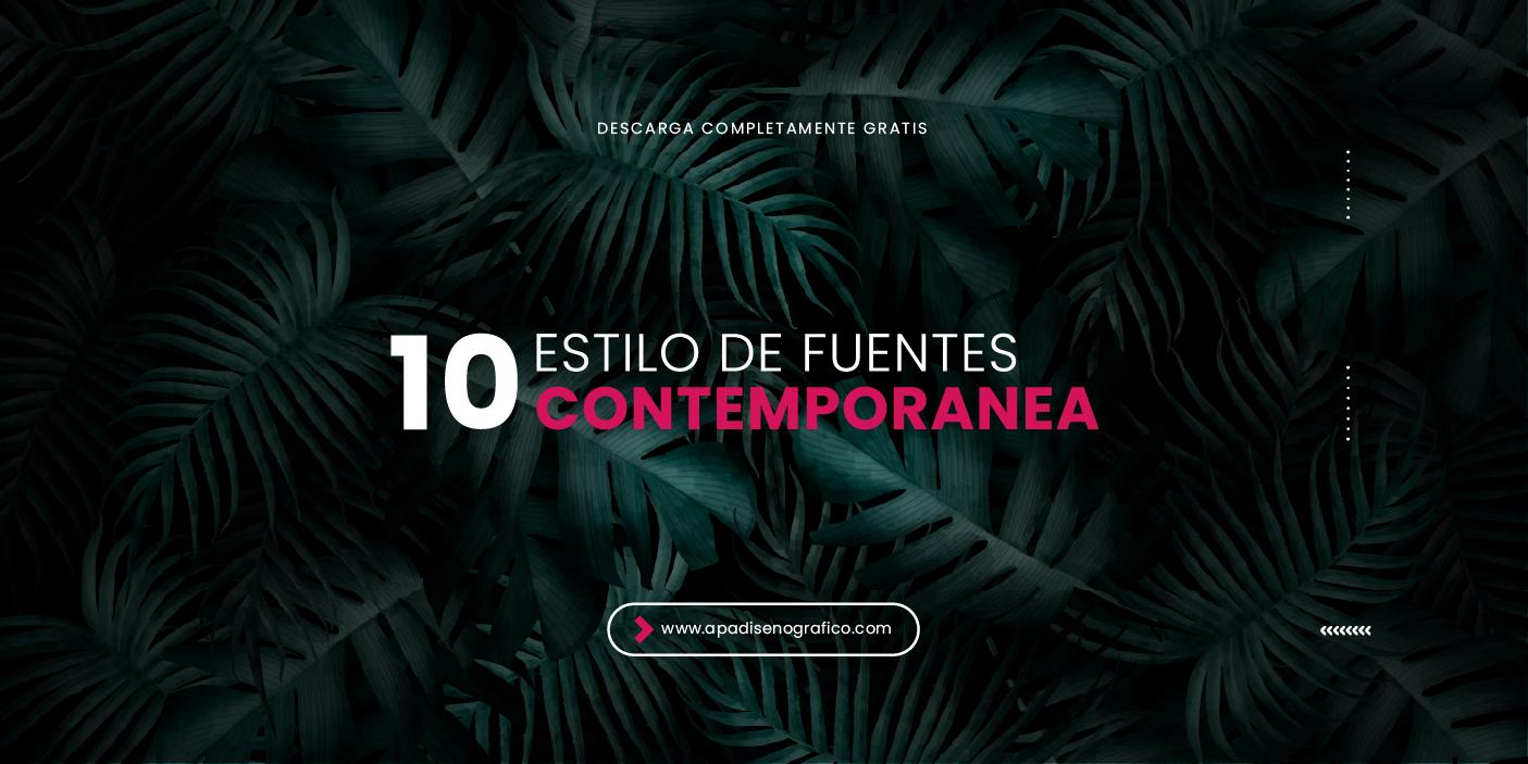 10 Estilos de fuentes contemporanea simples y elegantes para descargar gratis - tipos de uso libre