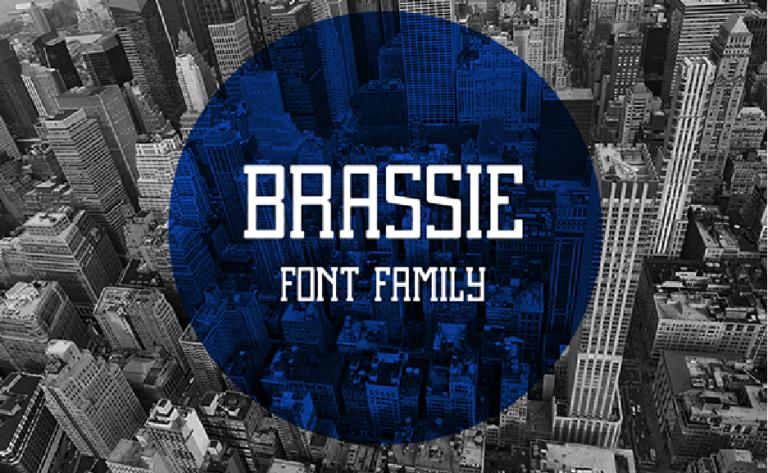Brassie font regular gratis - descargar