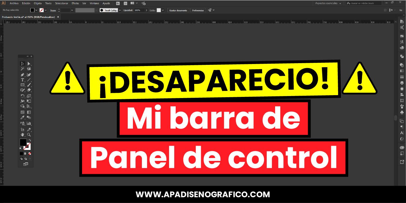 Como activar y configurar la barra de panel de control y barra de heramienta de Adobe Illustrator