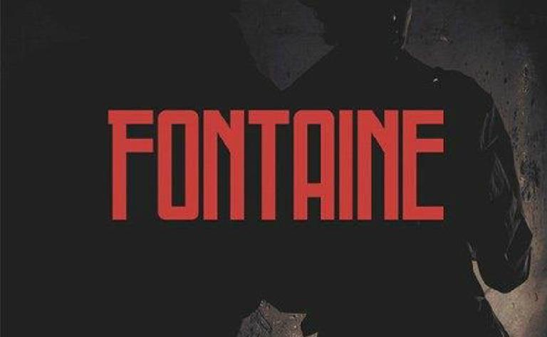 Fontaine - fuente mayuscula moderna y simple para titulos y diseños de carteles