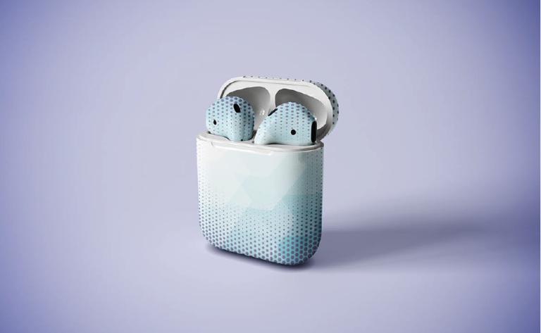 Maquetas para Auriculares inalambricos en psd - mockups gratis