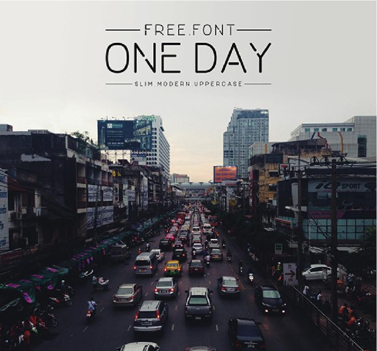 One Day - tipografia simple - moderna - mayuscula - elegante - para uso libre - gratis