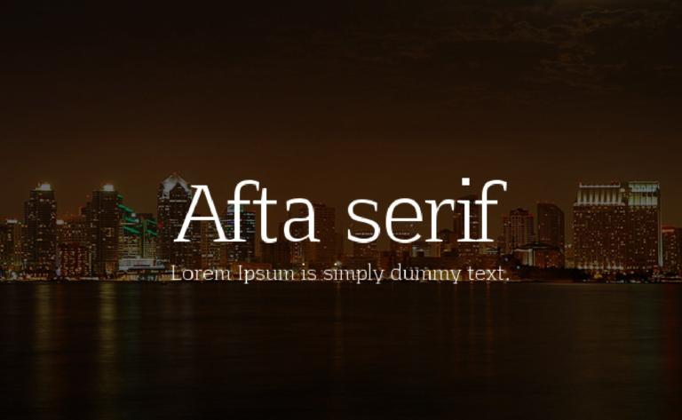Afta serif - fuente de uso - gratuito