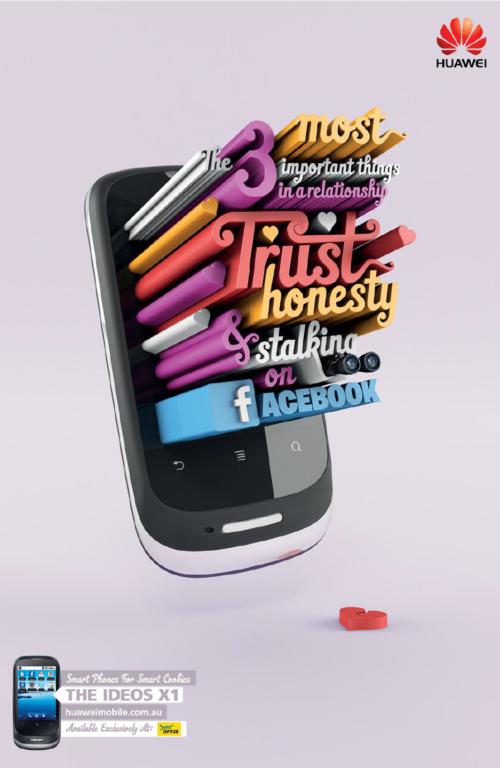 Huawei - anuncio tipografico - creativo