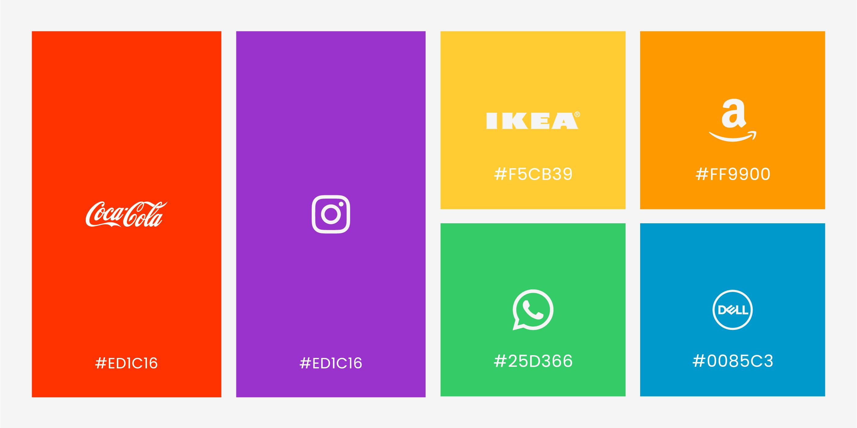 Los colores corporativos mas utilizados por grandes marcas famosas