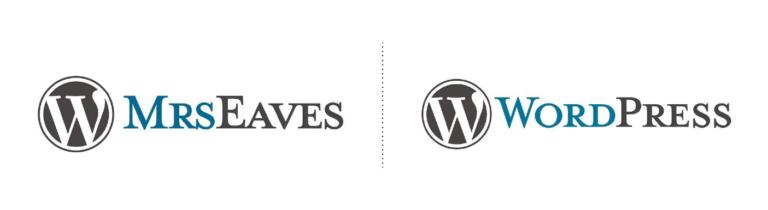 La fuente tipografica del logotipo de wordpress
