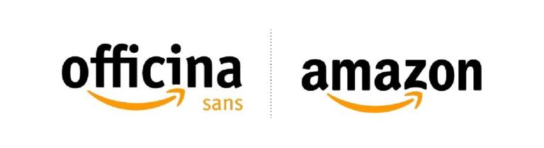 Cual es la tipografia de uso de la marca amazon