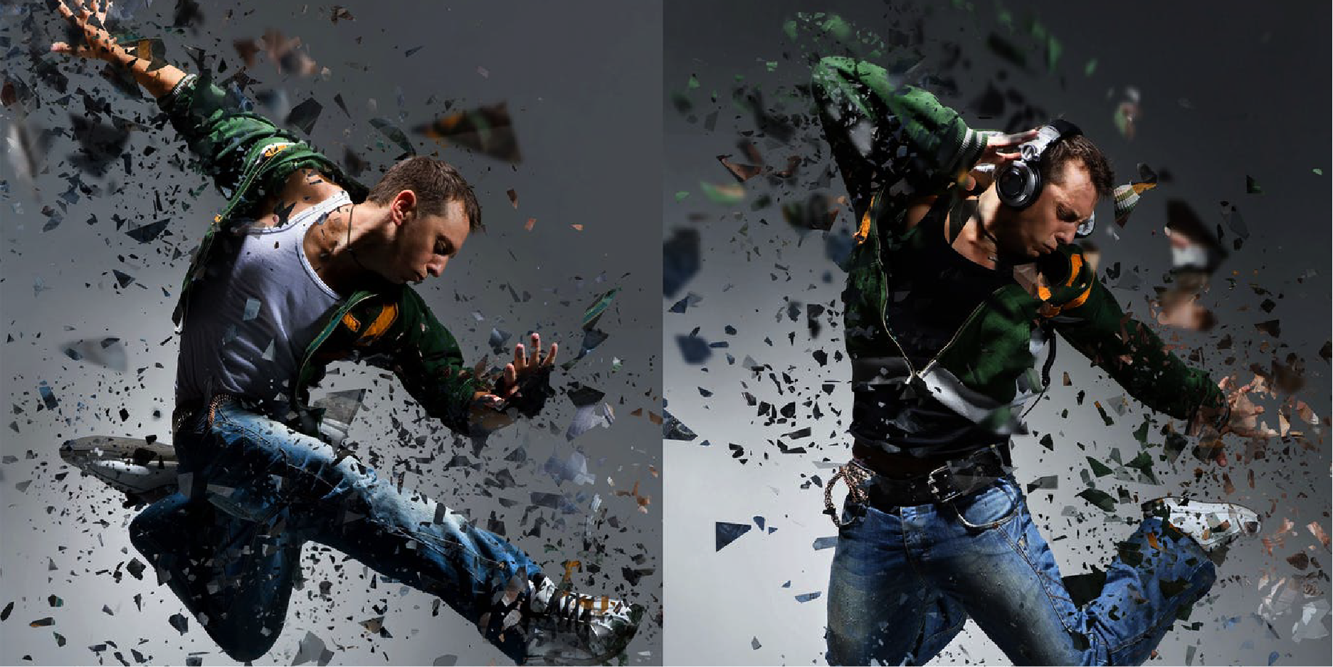 Crea efectos de dispersión con este Photoshop Action