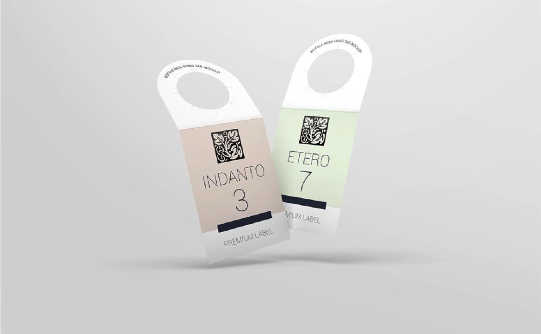 Etiqueta en PSD para cuello de botella mockup gratis