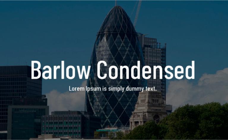 barlow condensed fuente gratis