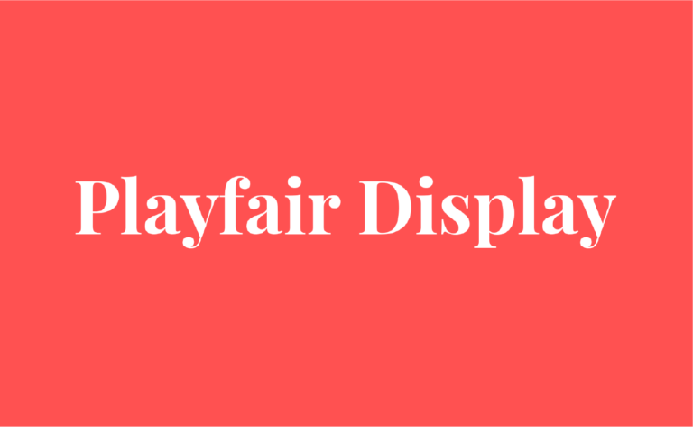 playfair display fuente serif moderna gratuita
