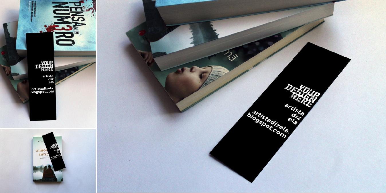 diseños mockups para marcadores y separadores de libros para uso gratuito