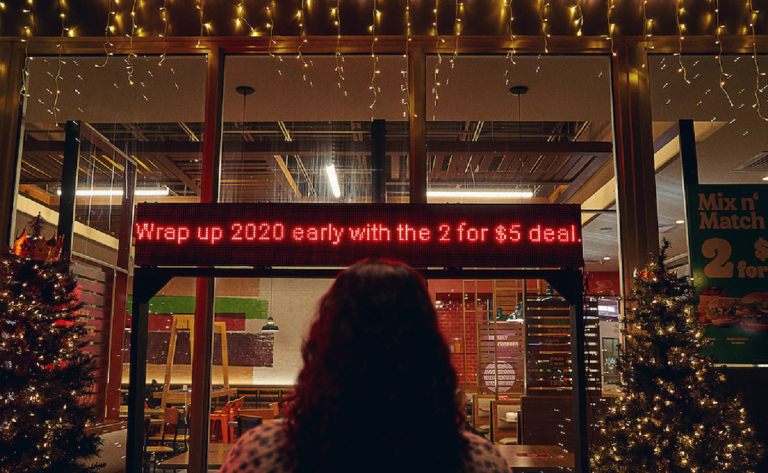 Burger King navidad 2020