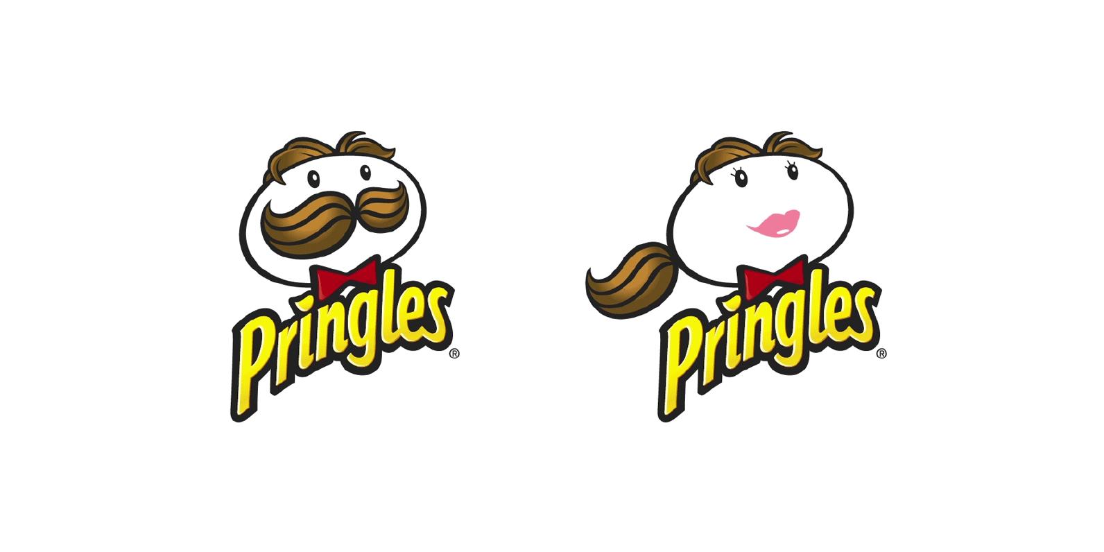 Diseños de personajes de logos famosos creados en version femenina