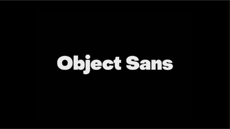 object sans fuente robusta y gratuita para marcas y titulares
