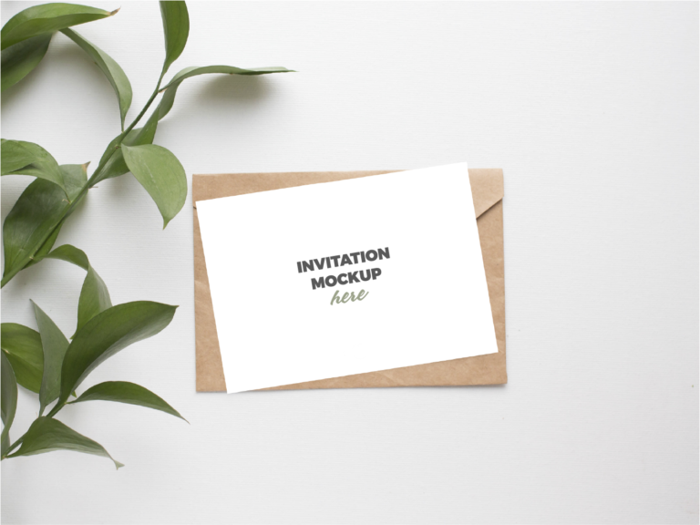 Elegante maqueta para presentar diseño tarjeta e invitaciones psd gratis