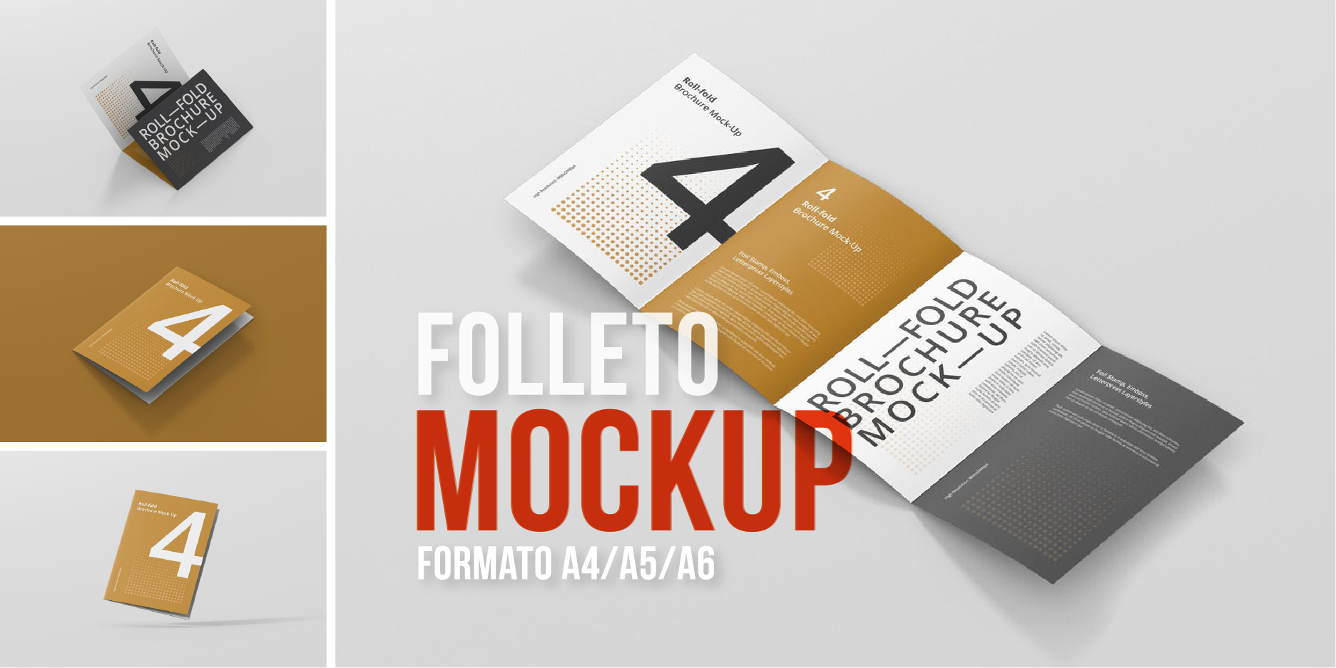 A4 folleto mockups - 12 templates