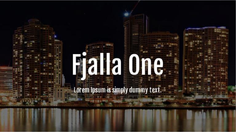 Fjalla One descarga fuente gratis