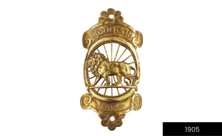 león en flecha - Primer logotipo de la marca Peugeot - 1905