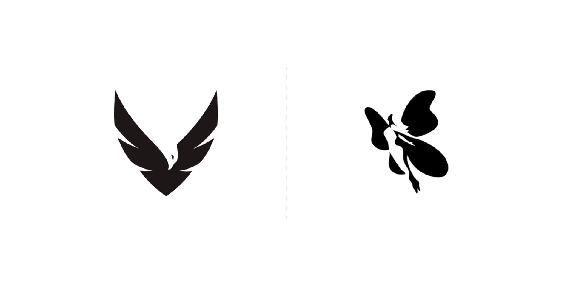 Hermoso diseños minimalistas de logotipo creados con espacios negativos
