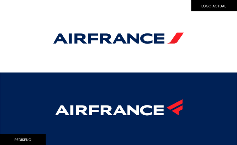 Logotipo de marca_Air France rediseño