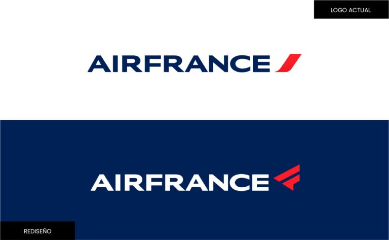 Logotipo de marca_Air France rediseño