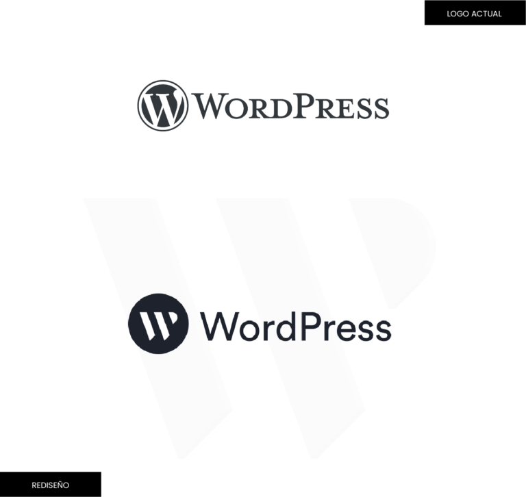 concepto y rediseño de la imagen de WordPress