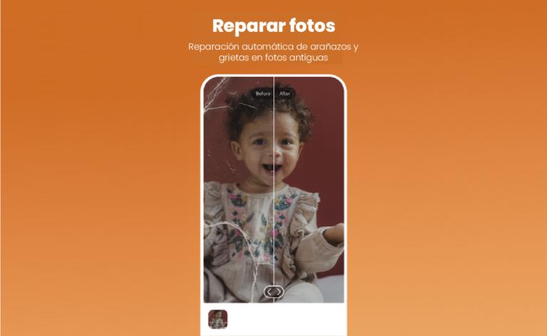 Aplicacion para arreglar las arugas y rasgado de tus fotos