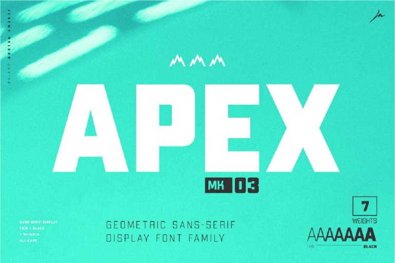 Fuente Apex mk 30 tipografia para diseños y carteles de uso gratis